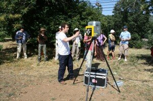 Demonstration of Terrestrial Laser Scanning by Gary Devlin from The Discovery Programme (Dublin)