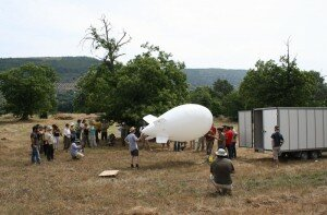 Setting up of the Blimp for Low Altitude Aerial Photography