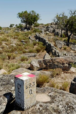 Ground control point established at the Roman quarry of Pitaranha (photograph by G. Verhoeven)