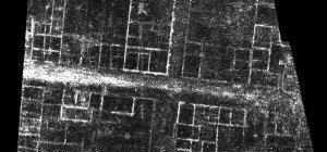 Image of GPR survey results with clearly visible Roman buildings and street network (elaboration L. Verdonck, Mariana survey)