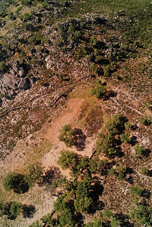 Helikite aerial photograph of Roman quarry site of Pitaranha (photograph by D. Taelman, D. Van Limbergen & G. Verhoeven)