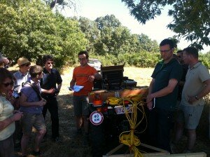 Lieven Verdonck conducting GPR survey at the Summer School.