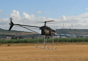 Unmanned Aerial Vehicle for LIDAR survey over Ammaia (photo by IST)