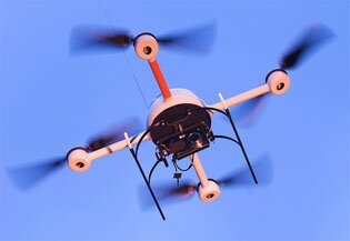 Microdrone (image copyright of Microdrones.GmbH)