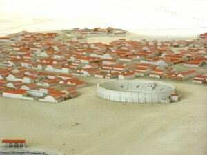 1:300 scale model of the ancient town of Carnuntum.
