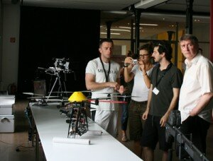 Hands-on approach to an octocopter for aerial photography.