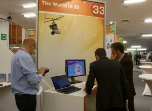 A remote sensing device exhibited and explained at stand 33.