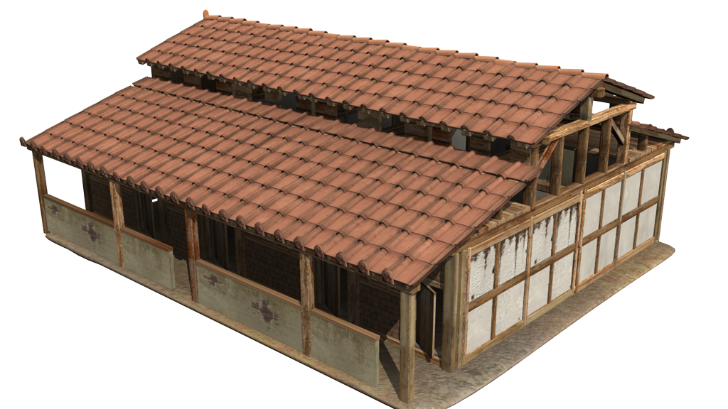 Reconstruction of a Roman building from Vindobona (by 7Reasons)
